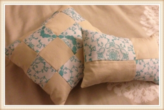Patchwork Bedroom Pillows