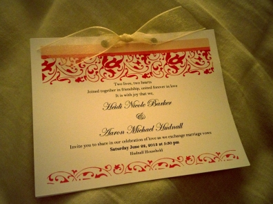 Finished Invitation